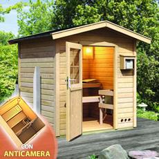 Sauna vapeur d'exterieur Aida avec préchambre