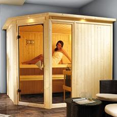 Sauna en bois lambris Flore 3 68 mm