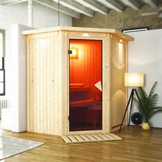 Sauna en bois lambris Thea 68 mm