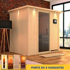 Sauna en bois lambris Lalie - 68 mm